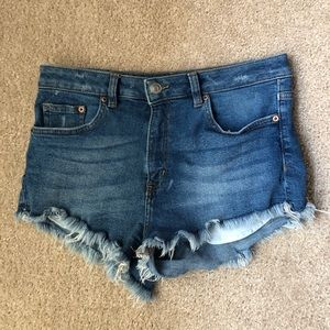 H&M denim cutoff shorts